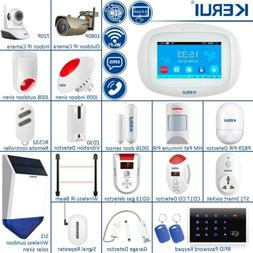 KERUI K52 WiFi GSM Wireless Touch Screen Home Security Alarm