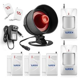 Security Alarm System Kit Remoted Wireless Loud Siren Horn D