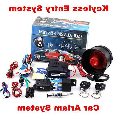 1-Way Auto Car Alarm Security System Keyless Entry&TWO 4-But