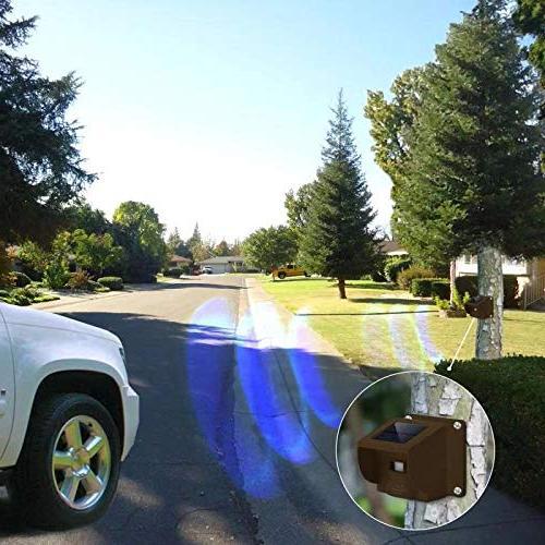 Hosmart 1/4 Range Rechargable Solar Alarm Driveway Weatherproof Outdoor Sensor & Need