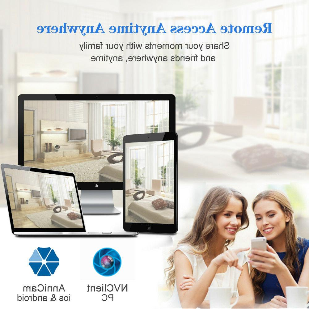 anni 8CH DVR 1TB HDD IR Smart Alarm CCTV Security Camera