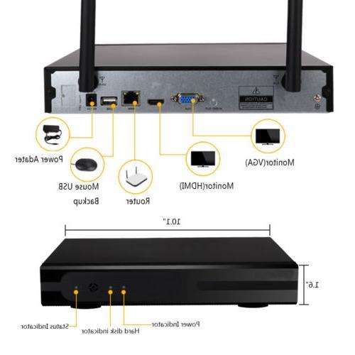 1080P CCTV NVR IR-CUT WiFi Camera Security System Alarm