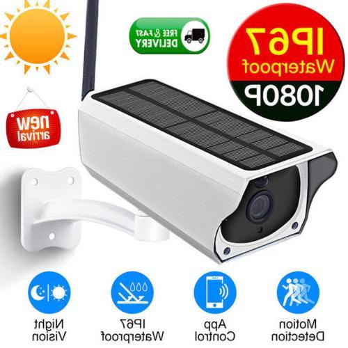 1080P HD Security IP Camera Wireless Remote Monito Solar Vid
