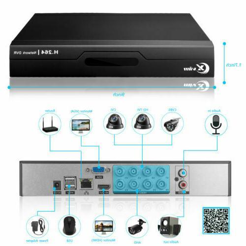 XVIM 1080P 4CH Outdoor CCTV 1TB