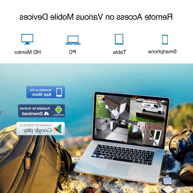 SANNCE 1080P 8CH/4CH DVR Outdoor IR Security System