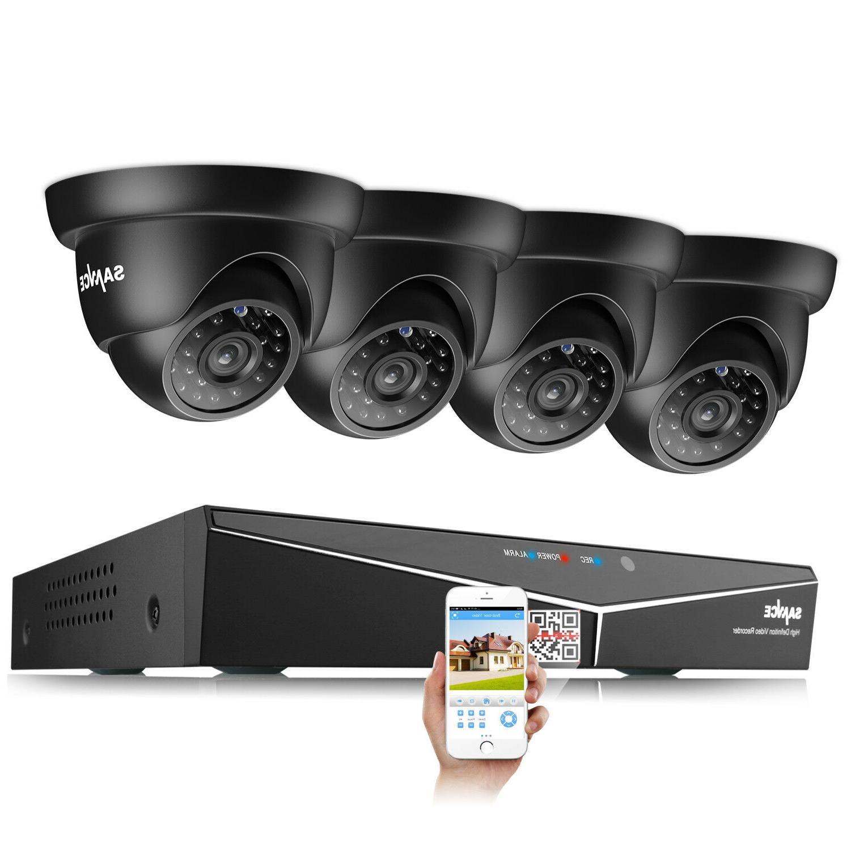 SANNCE 1080P HDMI HD-TVI 8CH/4CH DVR IR Security System