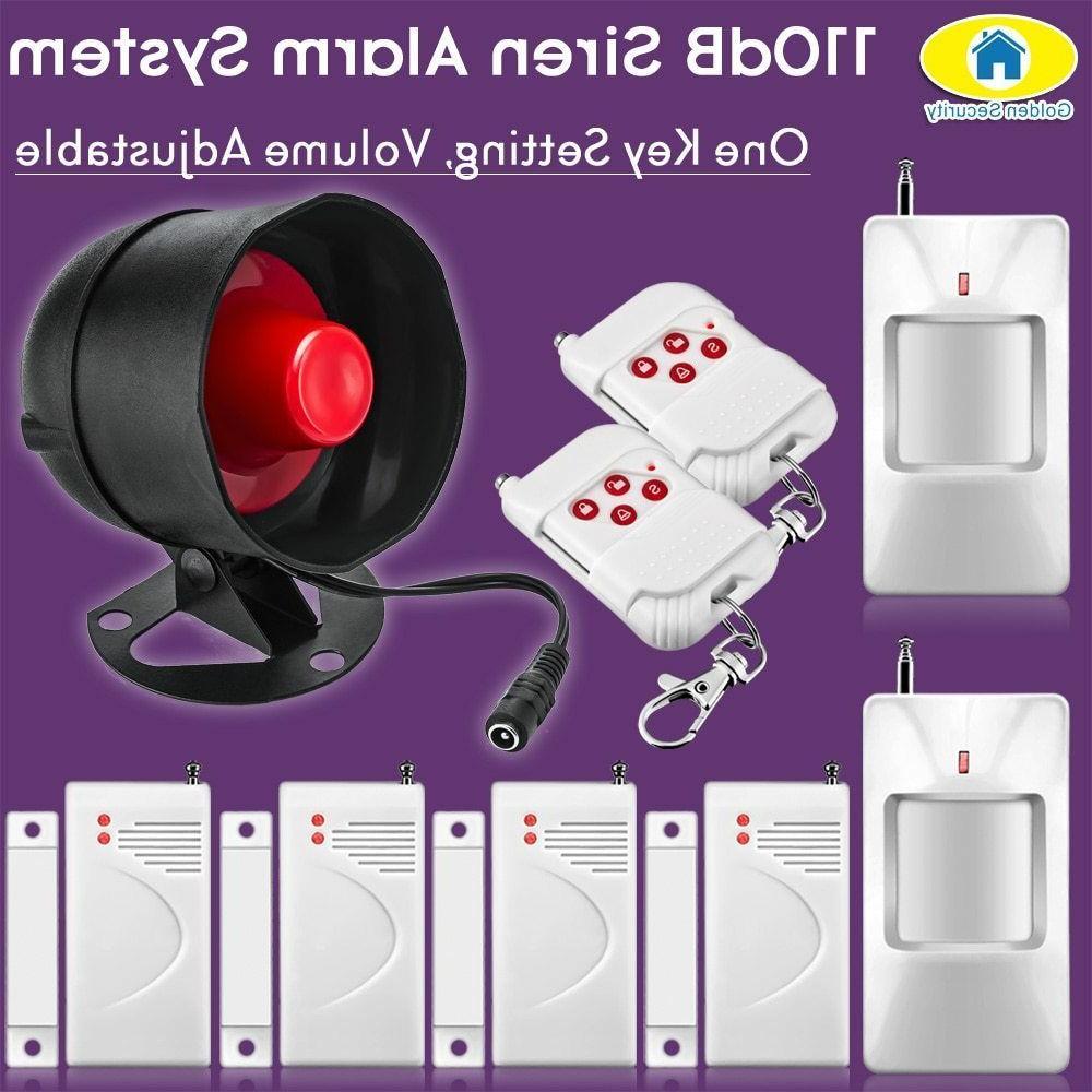 110db wireless loudly siren alarm system security