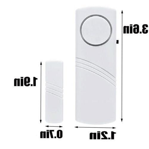 4Packs Wireless Security Burglar Alarm Home System Sensor