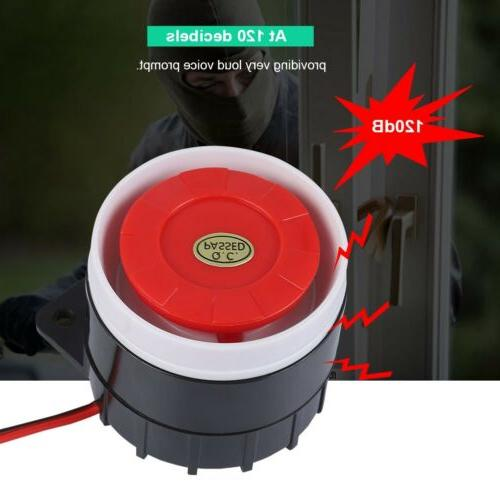 Outdoor DC 12V Wired Loud Alarm Siren Horn For Home Security 150//120dB Dual Tone