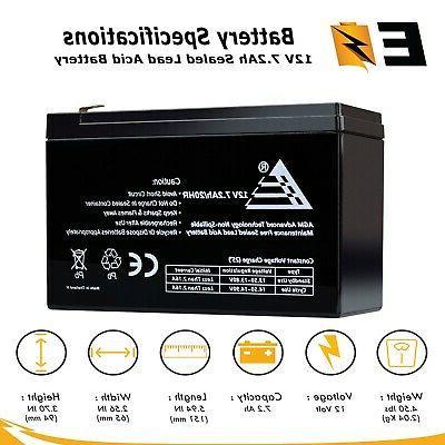 12V 7.2Ah 7AH Sealed Lead Acid  Battery for Universal ALARM