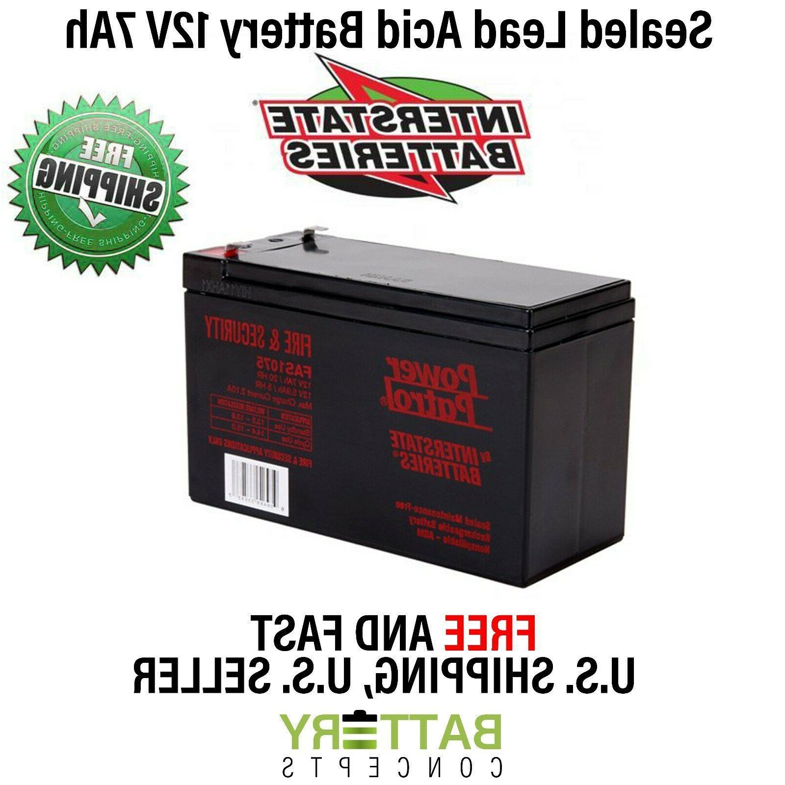 12v 7ah sla first alert adt alarm