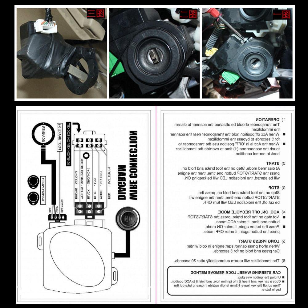 Stop Engine <font><b>Start</b></font> RFID Lock <font><b>System</b></font> Push