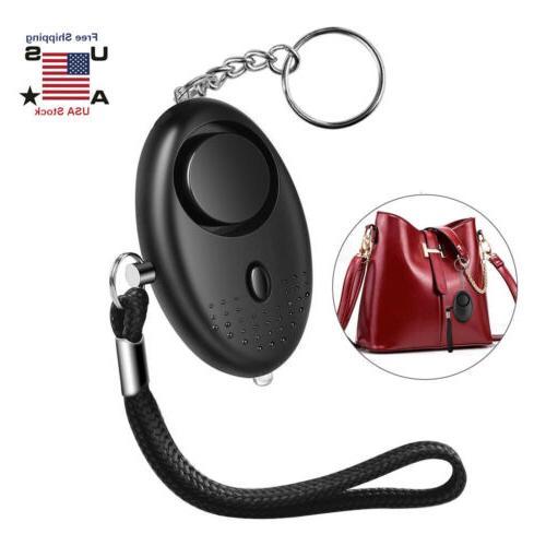 130db safe sound personal alarm keychain emergency