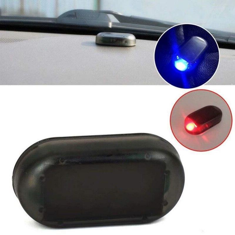 1Pc Universal <font><b>Car</b></font> Solar Power Security Warning LED