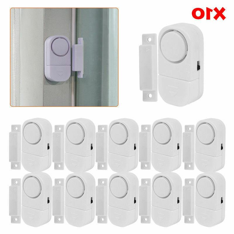 1-10Pcs WIRELESS Home Window Door Burglar Security ALARM Sys