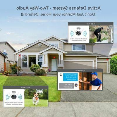 2 1080p HD WiFi Remote Activated Alarm Camera System