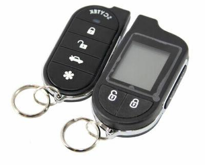 SCYTEK CAR ALARM SYSTEM & LCD 4 DOOR LOCKS