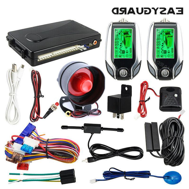 Easyguard 2 Way Pke Car Alarm System Keyless