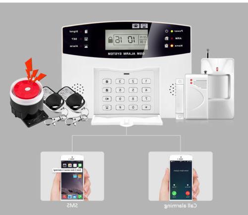 2G Alarm System Security Home Support Card Wireless Open Door Detector