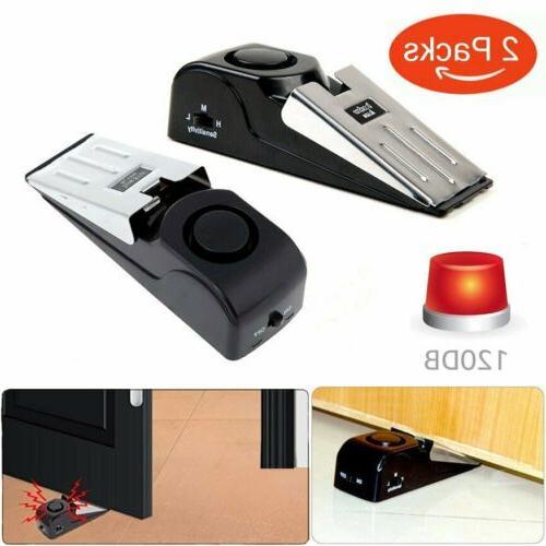 2pcs door stop alarm home travel wireless