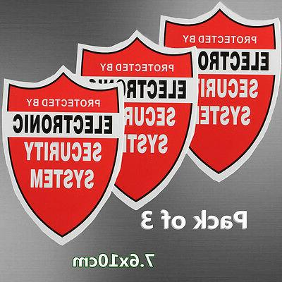 3 Pack SECURITY SYSTEM DECALS Sticker Decal Video Warning CC