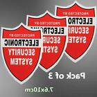 3X SECURITY SYSTEM DECALS Sticker Decal Video Warning CCTV C