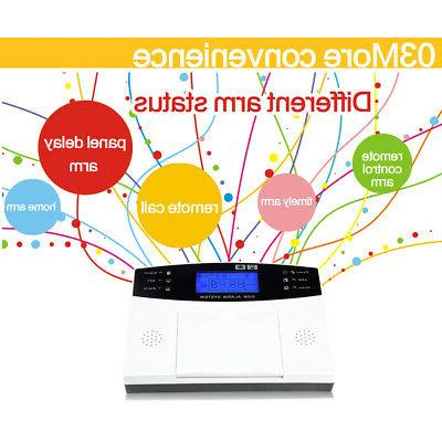GSM & Wired Voice Home Alarm Security System LCD Auto BS