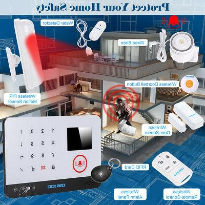 OWSOO 433MHz Wireless LCD Alarm