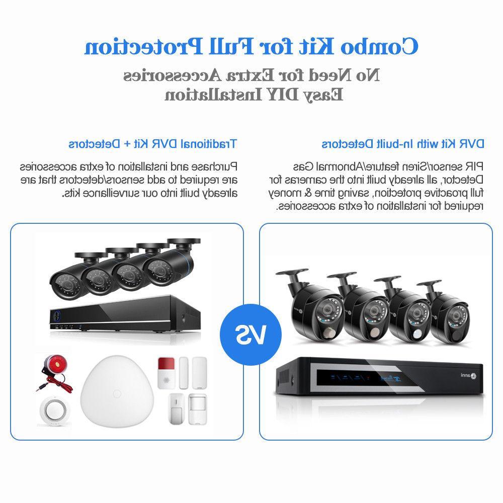 16CH 1080P DVR 8x PIR Alarm CCTV System