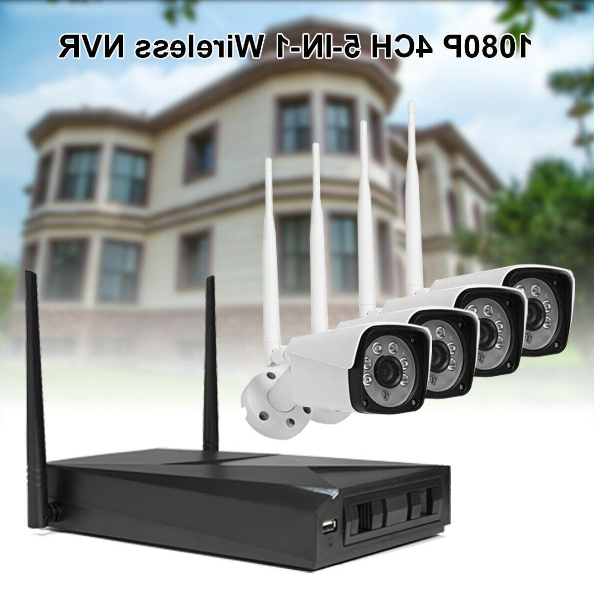 4CH Wireless Outdoor IR Camera System APP