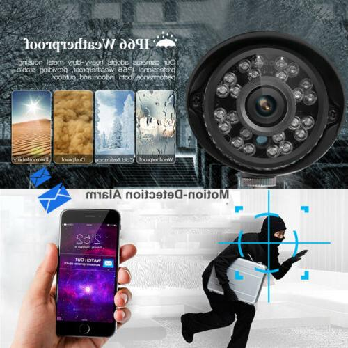 FLOUREON 1080P CCTV Home Security IP Camera System Night Vision Kit