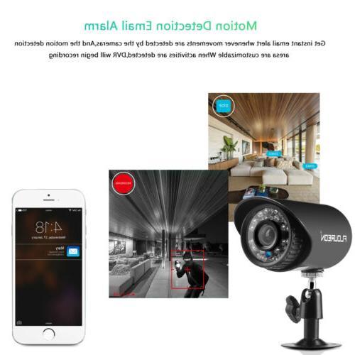 FLOUREON 4CH CCTV Camera System Vision