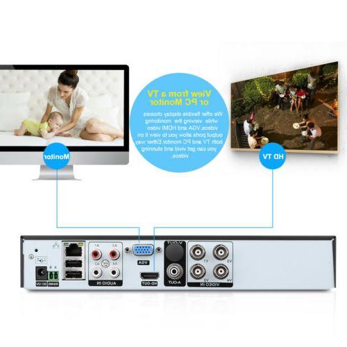 FLOUREON 4CH 1080P CCTV Home Security Camera System Vision