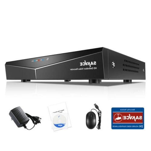 SANNCE DVR 1500TVL IR Security Camera System Email Alarm