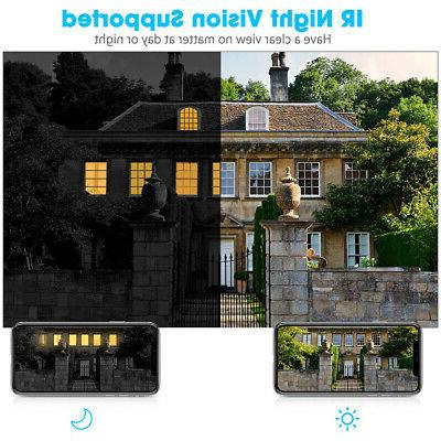 4CH 1080P Outdoor Security Camera Motion Detection Alarm