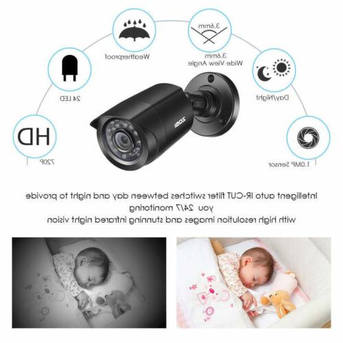 ZOSI 4CH HDMI DVR Surveillance Security 1TB