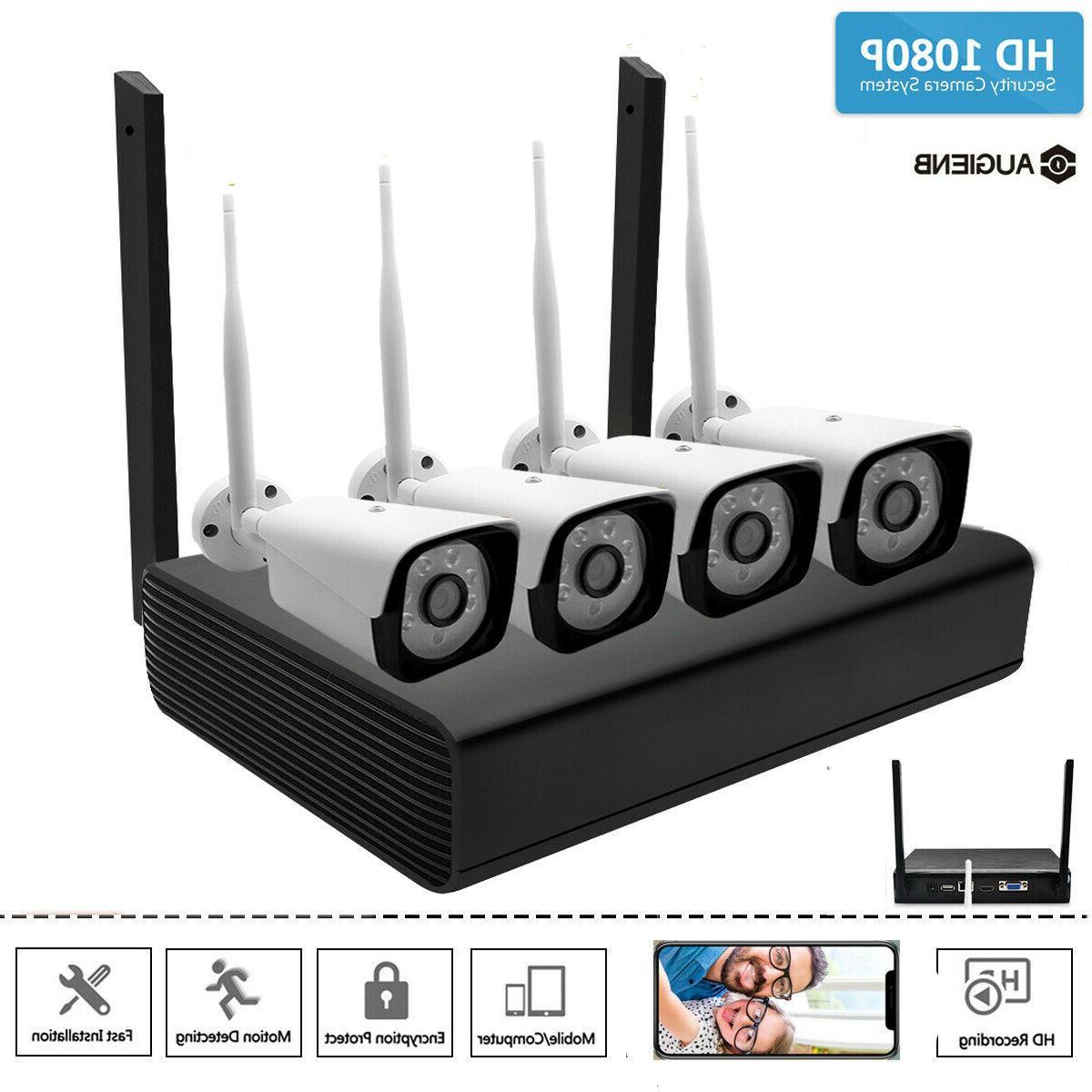 4CH Wireless Outdoor IR WIFI Camera System