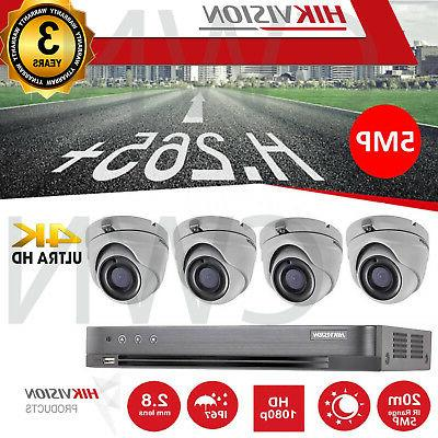 4k 5mp cctv kit 1080p night vision