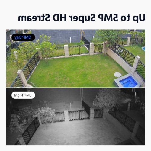 ANNKE H.265+DVR Dome Camera IP67 Home Security 4TB