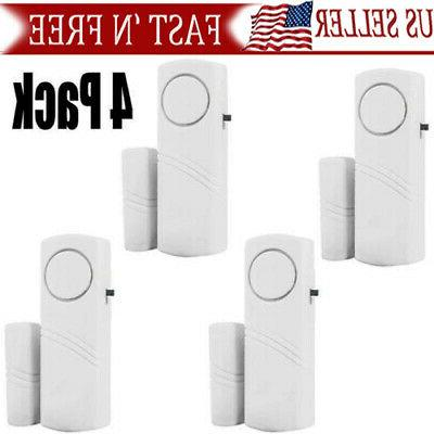 4packs wireless security burglar alarm home window