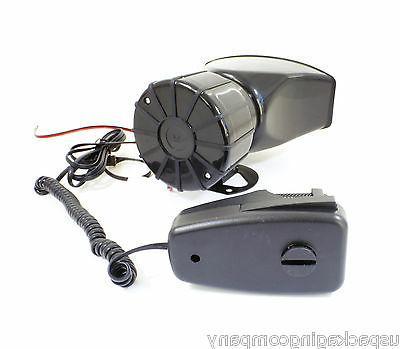 5 Fire Police Siren MIC System Kit