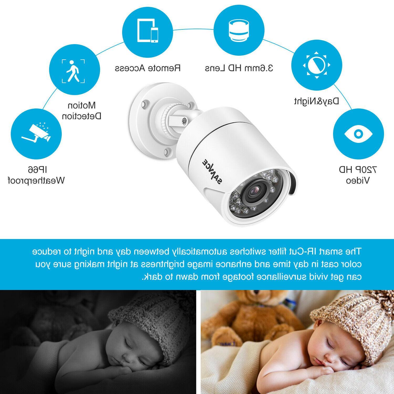 SANNCE 5in1 8CH DVR IR Security Camera