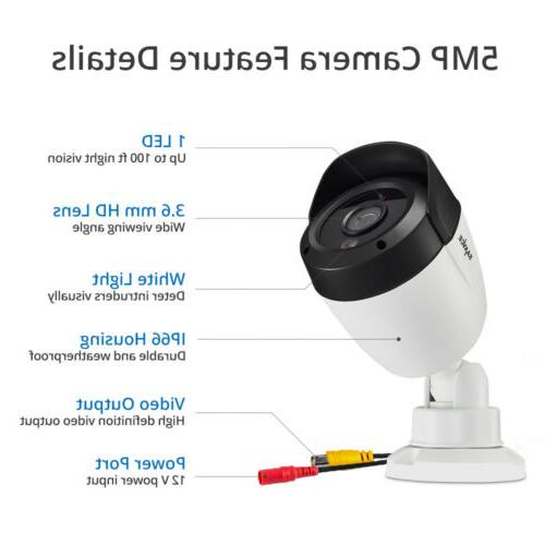 SANNCE DVR Security Camera System AI Human Light H.264+