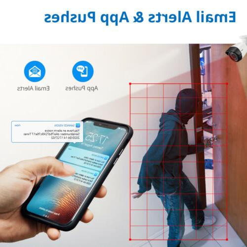 SANNCE 5MP Security Camera AI Human H.264+