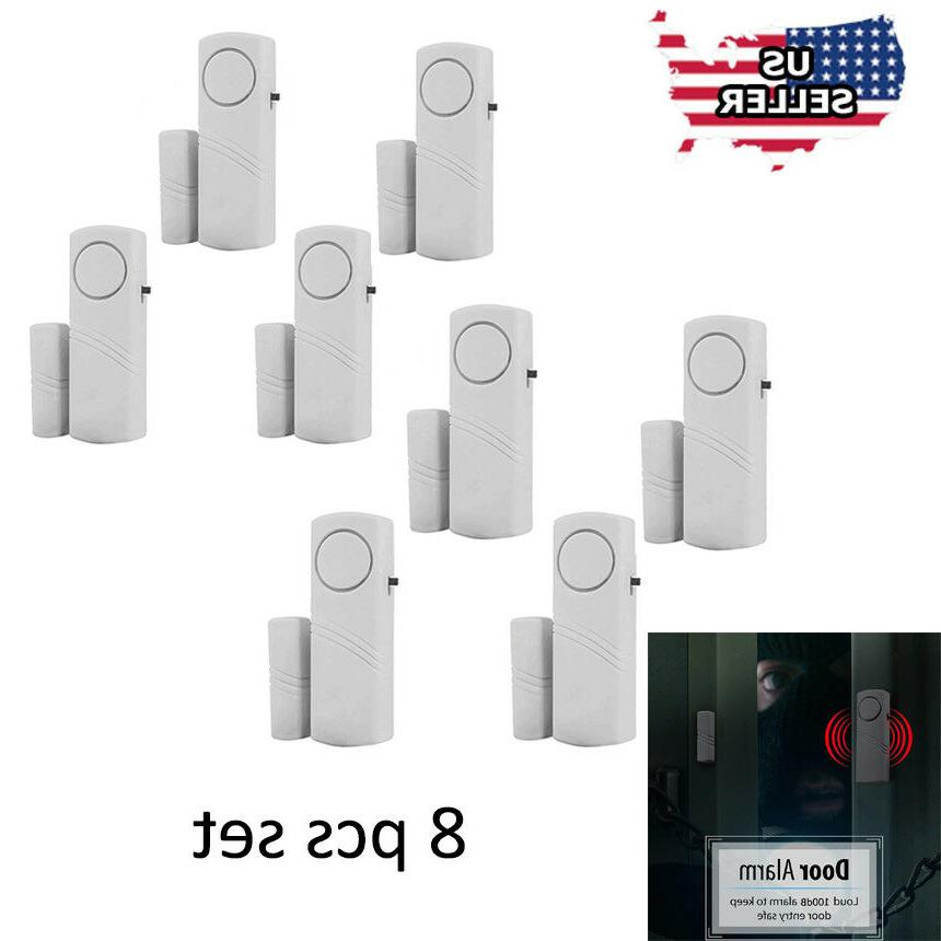 8 home safety burglar alarm wireless system