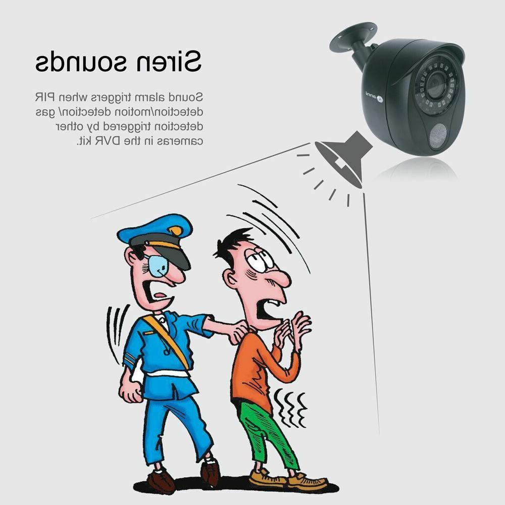 anni 1080P DVR 1TB Night Smart Security Camera