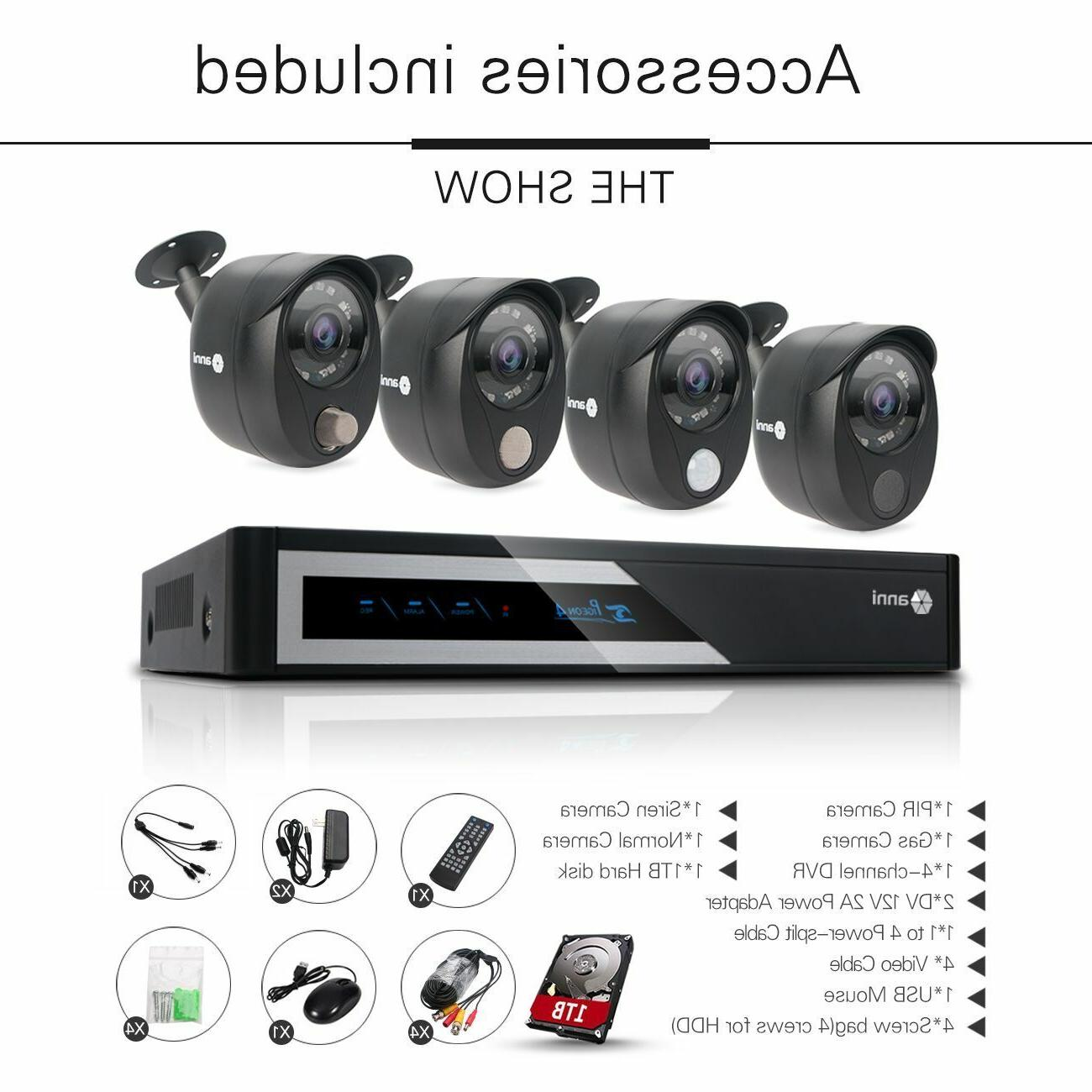 anni 8CH 1TB Smart Home Security System