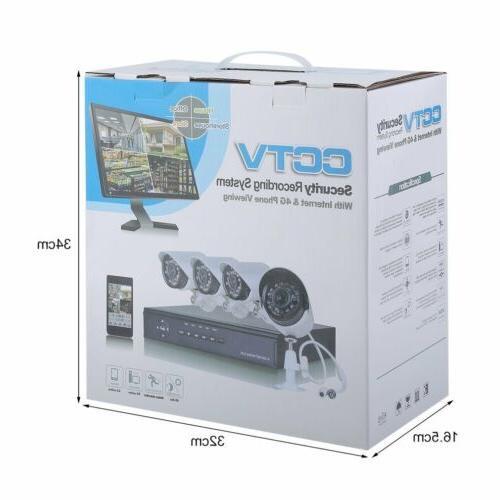 8CH/4CH Video 720P Camera System IR Alarm