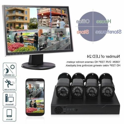 Video 720P Security Camera System IR Alarm
