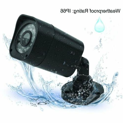 8CH/4CH Video 1500TVL Camera System IR Night Alarm